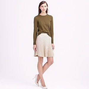 J. Crew Blush Laser-cut Pleated Skirt